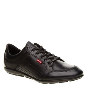 Sneakers informali di pelle levis, nero, 844-6544 - 13