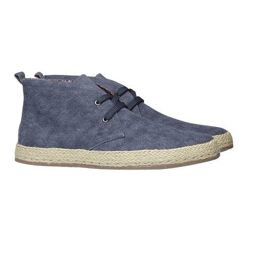 Scarpe da uomo in stile Desert Boots bata, blu, 899-9669 - 26
