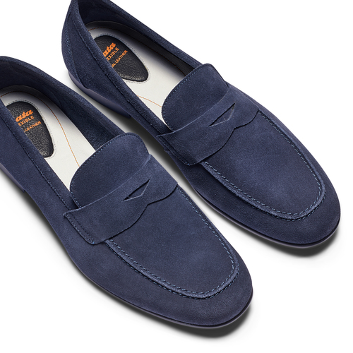 Mocassini in suede flexible, blu, 853-9186 - 26