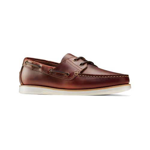 Scarpe da barca bata, marrone, 854-5174 - 13