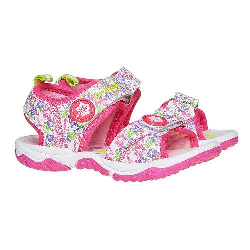 Sandali da ragazza con chiusura a velcro primigi, bianco, 261-0142 - 26