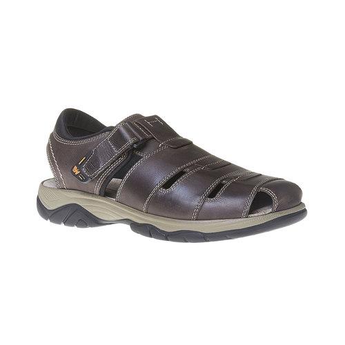 Sandali da uomo in pelle weinbrenner, marrone, 864-4213 - 13