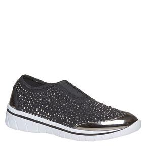 Sneakers slip-on con strass north-star, grigio, 539-2109 - 13