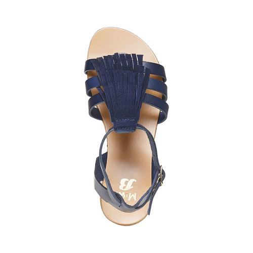 Sandali da bambina con cinturino in pelle alla caviglia mini-b, viola, 364-9190 - 19