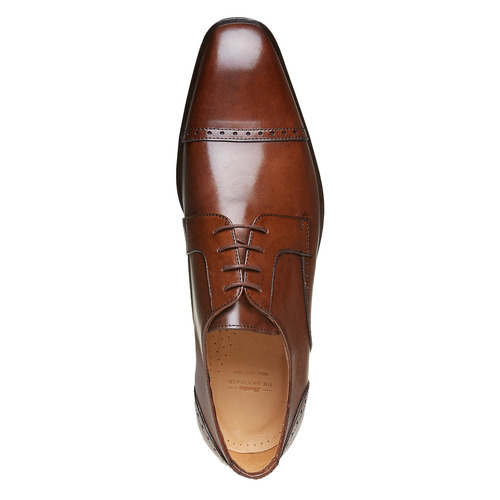 Scarpe basse da uomo in pelle in stile Derby bata-the-shoemaker, marrone, 824-3187 - 19