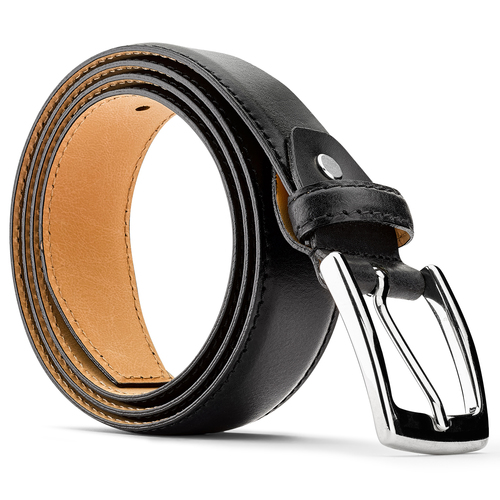Cintura da uomo in pelle bata, nero, 954-6170 - 26