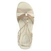 Sandali in pelle con fasce intrecciate bata-touch-me, giallo, 564-8353 - 19