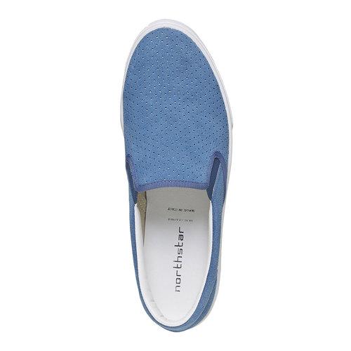 Slip-on con perforazioni north-star, blu, 833-9118 - 19