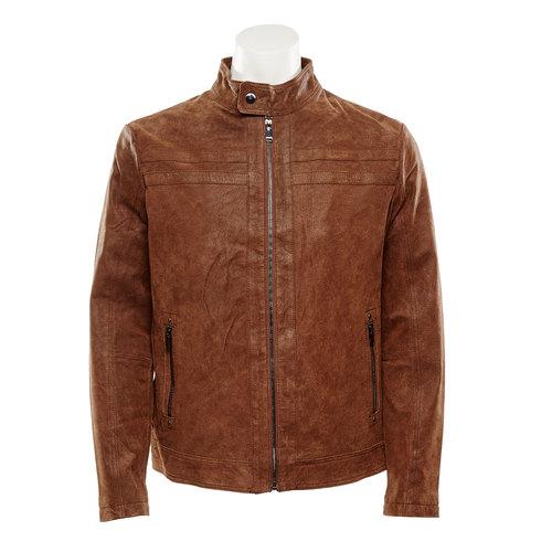 Giacca da uomo in pelle bata, marrone, 973-4109 - 13