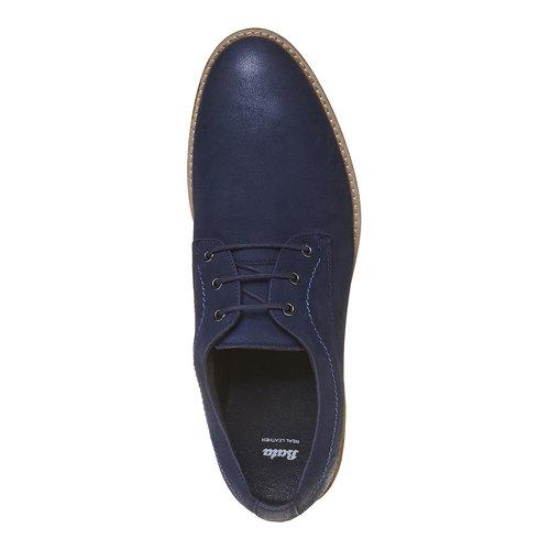 Scarpe basse informali di pelle bata, blu, 826-9642 - 19