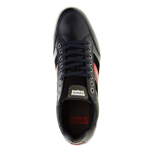 Sneakers informali di pelle levis, nero, blu, 844-9260 - 19