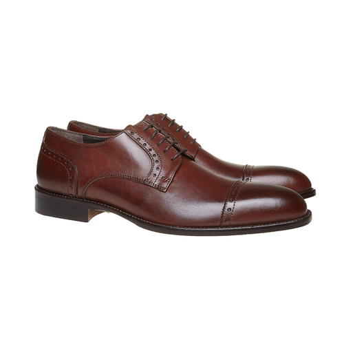 Scarpe basse da uomo in pelle bata-the-shoemaker, marrone, 824-4192 - 26