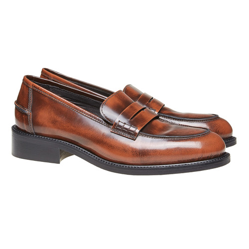 Penny Loafer di pelle bata, marrone, 514-4222 - 26