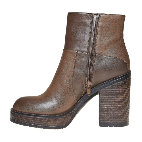 Stivaletti da donna alla moda bata, marrone, 791-4301 - 19