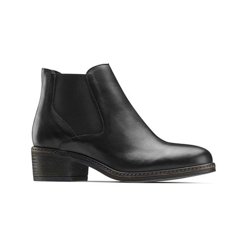 Chelsea Boots con tacco bata, nero, 694-6382 - 13