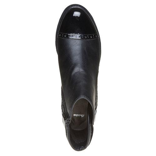 Scarpe da donna alla caviglia con glitter bata, nero, 591-6539 - 19