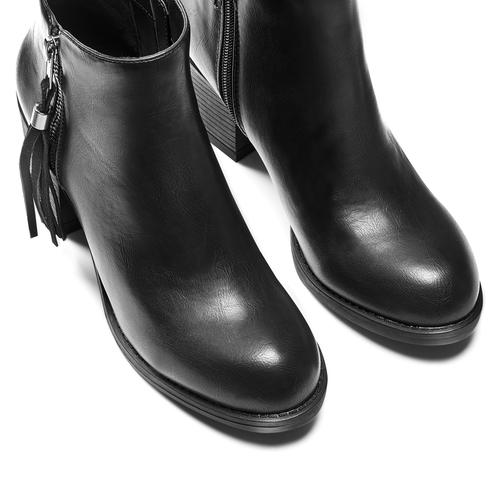 Stivaletti con nappina bata, nero, 691-6220 - 17