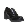 Scarpe basse da donna con tacco bata, nero, 621-6164 - 13