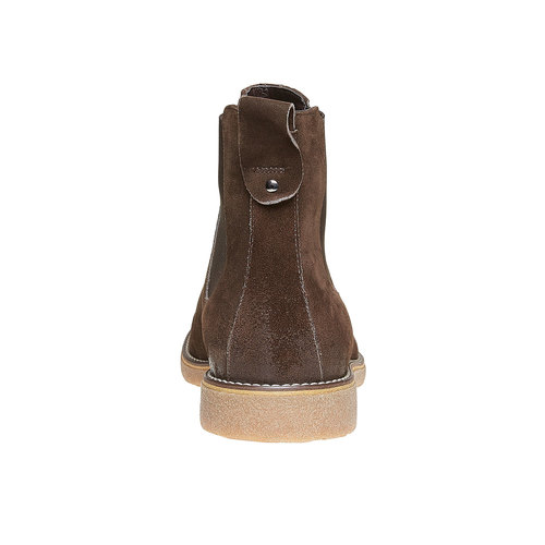 Scarpe da uomo in stile Chelsea bata, marrone, 893-4222 - 17
