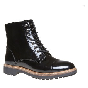 Scarpe verniciate sopra la caviglia bata, nero, 591-6509 - 13