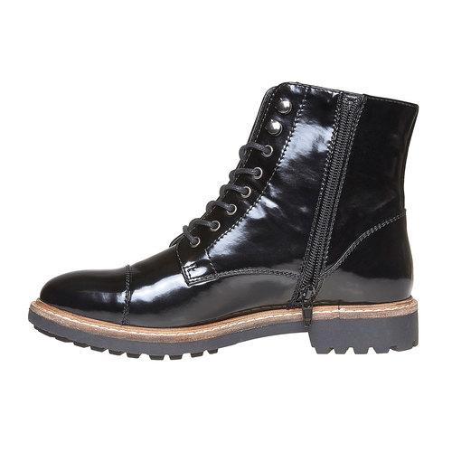 Scarpe verniciate sopra la caviglia bata, nero, 591-6509 - 19