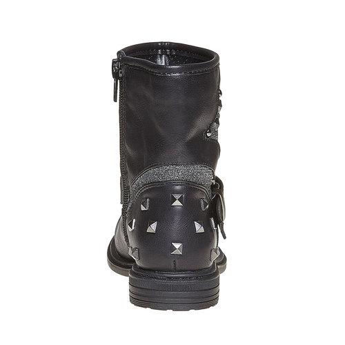Scarpe da ragazza alla caviglia con cerniera mini-b, nero, 291-6153 - 17
