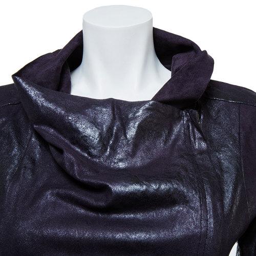 Giacca casual da donna con colletto bata, nero, 979-6635 - 16