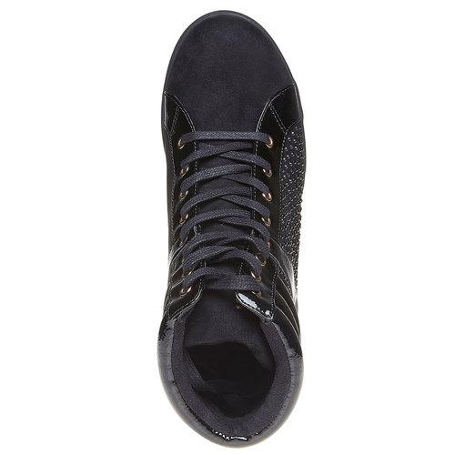 Sneakers da donna con plateau north-star, nero, 729-6360 - 19