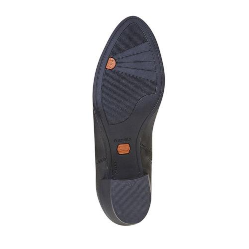 Scarpe alla caviglia con fibbia flexible, nero, 694-6344 - 26