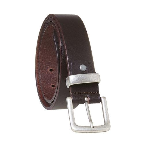 Cintura da uomo marrone in pelle bata, marrone, 954-4162 - 13