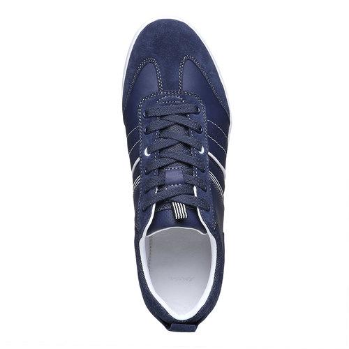 Sneakers informali da uomo bata, viola, 841-9633 - 19