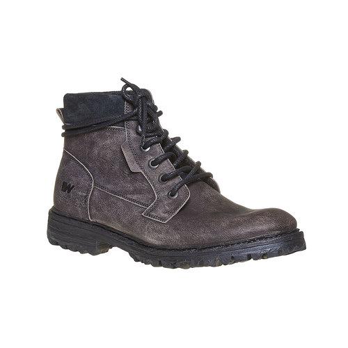 Scarpe invernali da uomo in pelle weinbrenner, grigio, 894-2256 - 13