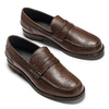 Mocassino in pelle bata, marrone, 814-4128 - 19