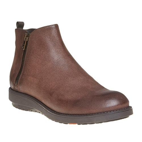 Scarpe di pelle sopra la caviglia flexible, marrone, 594-4227 - 13