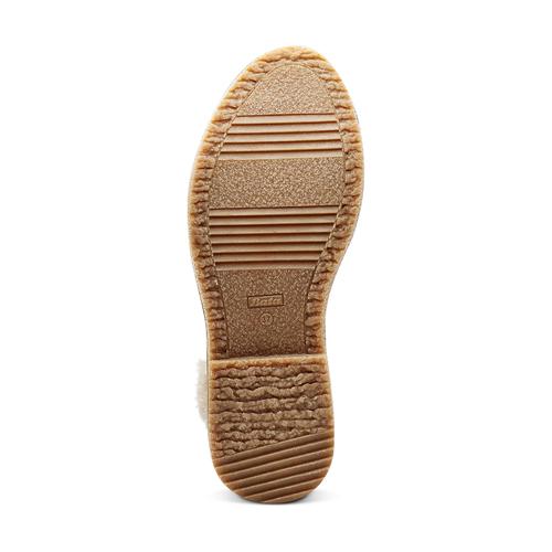 Scarpe alla caviglia con bordo in pelliccia bata, grigio, 599-2997 - 17