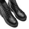 Ankle Boots con lacci bata, nero, 591-6507 - 17