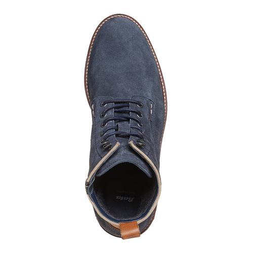 Scarpe da uomo alla caviglia bata, blu, 893-9357 - 19