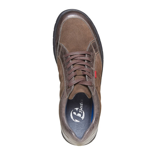 Sneakers da uomo in pelle bata, marrone, 843-4682 - 19