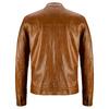 Giacca in pelle con cuciture eleganti bata, marrone, 974-3142 - 26