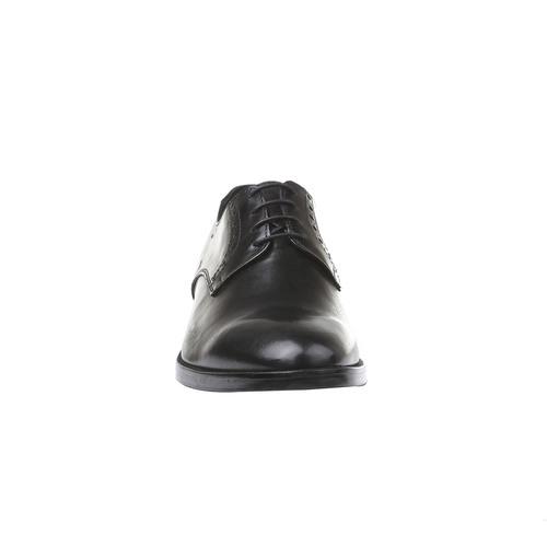 Scarpe basse di pelle in stile Derby bata-comfit, nero, 824-6619 - 16