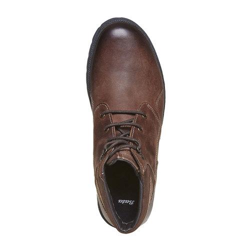 Scarpe in pelle da uomo alla caviglia bata, marrone, 896-4638 - 19