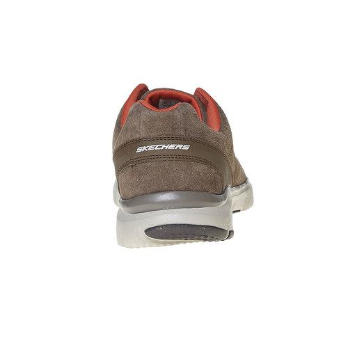 Sneakers da uomo in pelle skechers, marrone, 803-4351 - 17