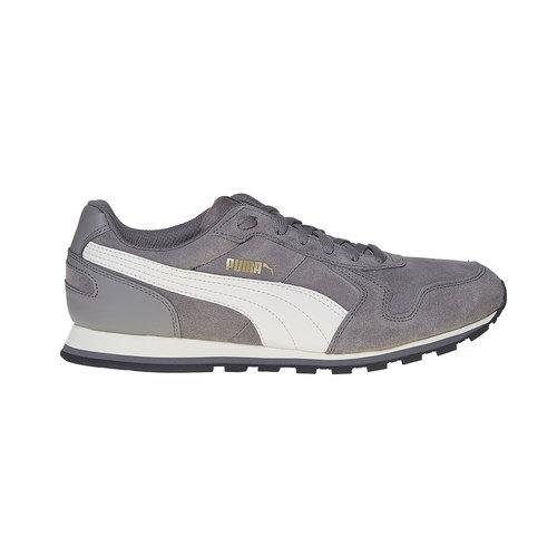 Sneakers in pelle da uomo puma, grigio, 803-2311 - 15