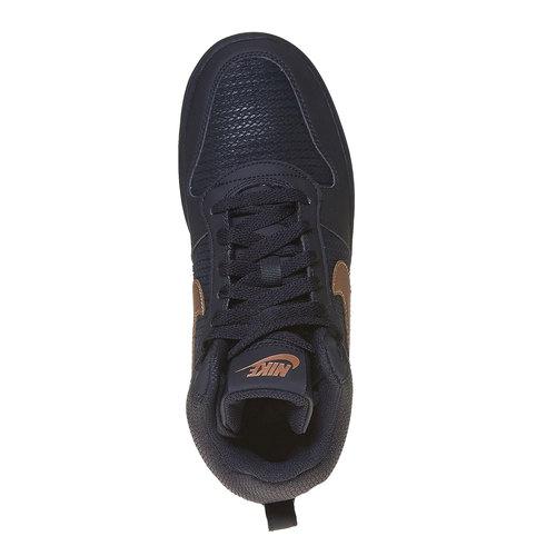 Sneakers da donna alla caviglia nike, nero, 509-6332 - 19