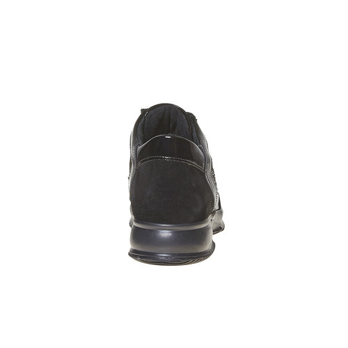 Sneakers in pelle da donna con strass bata, nero, 523-6578 - 17