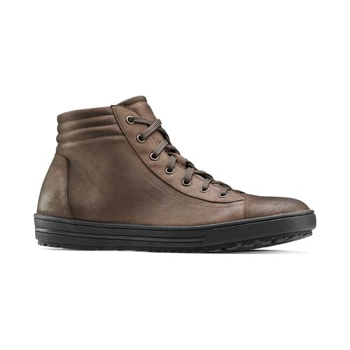 Sneakers da uomo in pelle bata, marrone, 894-4295 - 13
