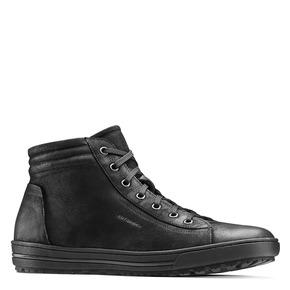Sneakers alte da uomo in pelle bata, nero, 894-6295 - 13