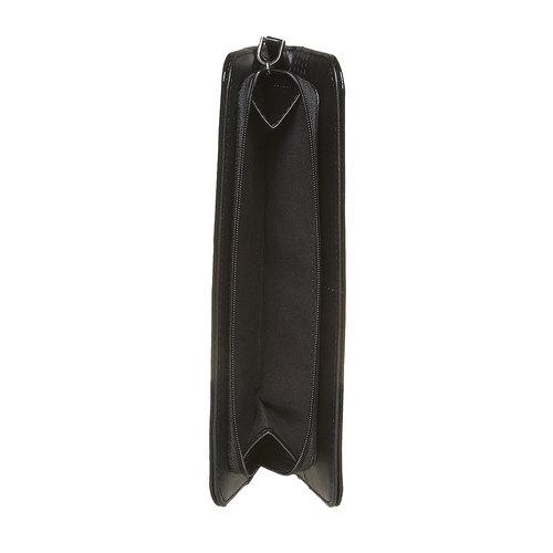 Portafoglio verniciato da donna bata, nero, 941-6144 - 17