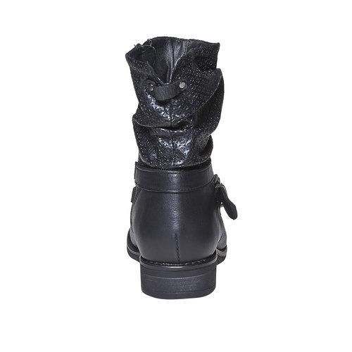 Stivali in pelle da donna bata, nero, 594-6138 - 17