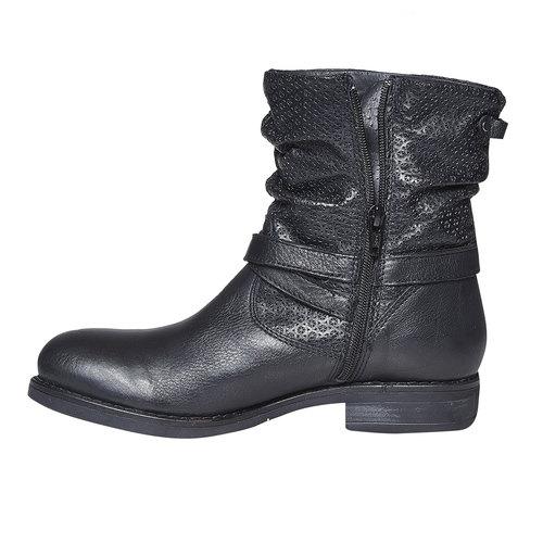 Stivali in pelle da donna bata, nero, 594-6138 - 18